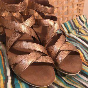 Gold Dansko Strappy Sandals